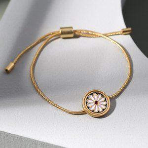 Madewell Daisy Delight Enamel Slider Bracelet